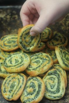 These Spinach and Feta Cheese Pinwheels are a great low carb and gluten free appetizer or snack. A Greek filling wrapped in a buttery pastry.