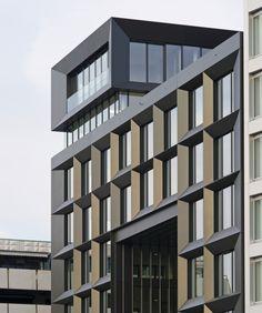 Building Exterior, Building Facade, Wood Facade, Contemporary Building, Facade Design, Facade Architecture, Apartments, Strong, Narrow House