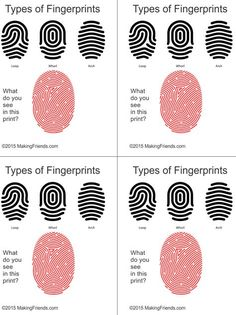 Simple illustration helps your detectives learn to read finger prints. Print four cards per page. Simple illustration helps your detectives learn to read finger prints. Print four cards per page. Girl Scout Badges, Girl Scout Troop, Girl Scouts, Scout Leader, Photo Booth Anniversaire, Detective Party, Detective Crafts, Cub Scouts Bear, Cub Scout Activities
