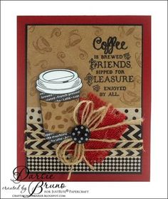March Release - Coffee House Clear Stamps   JustRite Papercraft Inspiration Blog