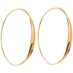 Lana 14k Small Twist Magic Hoop Earrings ($555) ❤ liked on Polyvore featuring jewelry, earrings, gold, twist jewelry, 14k gold jewelry, womens jewellery, diamond earrings and twist earrings