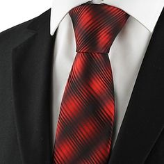 New Striped Gradual Red Men's Tie Formal Suits Necktie for Party  – USD $ 6.59