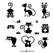Black Cat Silhouette For Your Design Stock Vector - Illustration of eyes, kitten: 14429179 Silhouette Chat, Silhouette Portrait, Silhouette Design, Cat Silhouette Tattoos, Silhouette Images, Black Silhouette, Stone Drawing, Silhouettes, Art Rupestre