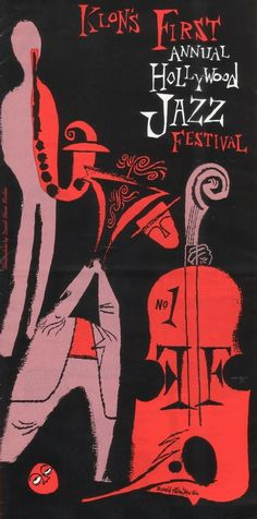 Hollywood Jazz Festival poster by David Stone Martin