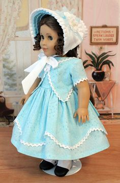 1850s Dress and Bonnet for Marie Grace or Cecile