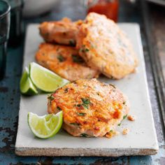 This triple-tested recipe for healthy salmon burgers is super quick to make. Season with lemon or lime and serve with a green salad to keep the meal low in calories or new potatoes if you're feeling hungry.