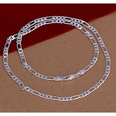 Wholesale Silver Plated Necklace & Pendant,Fashion Jewelry Accessories,Mens Three a Silver Chain Silver Hoop Earrings, Silver Necklaces, Silver Jewelry, 925 Silver, Silver Ring, Sterling Silver, Gold Watches Women, Mens Chain Necklace, Square Earrings