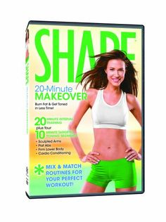 You ll Get Results in Less Time with the 20-MINUTEMAKEOVER. The Interval Training Workout will fire up your metabolism while you efficiently and effectively tone your whole body. Combine your interval training with the Targeted Toning Segments to customize your workout and focus on sculpting specific problem areas. You ll feel energized, have fun and get amazing results fast!20-MINUTEINTERVAL TRAININGUsing high-energy cardio bursts alternating with lower-intensity