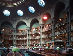 Bibliotheque Nationale de France, Paris. The National Library of France has expanded its collection within the last few decades, since it was established in 1461. The older building that was completed in 1868 on the Rue de Richelieu is still in use and not to be missed. Once the largest library in the world, this title remains no longer. Nonetheless, it is still impressive with collections like 5,000 Greek manuscripts and an impressive staff of 2,700.