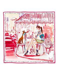 cafe girl scarf - designer scarves - cashmere scarves - fashion scarves #fashion #henribendel @Henri Bendel