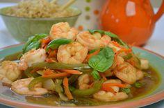 shrimp, Thai, basil leaves, basil, Asian recipe