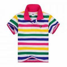 [ 44% OFF ] Children T Shirts Boys Girls Clothes Kids T Shirt Summer Striped Short Sleeve Cotton Polo Shirt