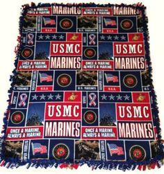 cb576fdcf30 United States Marine Corps Fleece Tie Blanket by BlanketsUnlimited Fleece  Tie Blankets