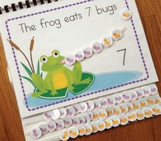 Frog interactive counting book.....make it yourself