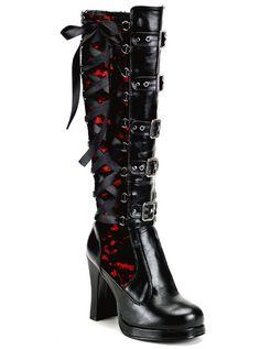 "Women's ""Crypto"" Vegan Boots by Demonia (Black)"