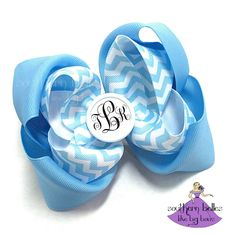 So many pattern and color choices for a completely customizable monogram bow!
