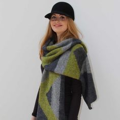 Abstract Shawl Pattern | The Little Grey Sheep | Well Manor Farm | Yarn and Wool Online UK