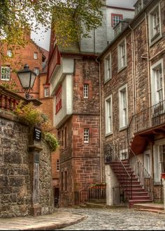 Ramsay Gardens; a block of sixteen private apartment buildings in the Castlehill area of Edinburgh.  (detail)