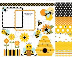 50% OFF SALE Clipart Honey Bee / Bumble Bee by MyClipArtStore