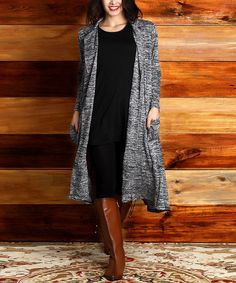 Love this Charcoal Melange Pocket Duster - Plus on #zulily! #zulilyfinds