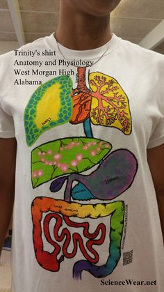 My 11th and 12th grade anatomy and physiology classes loved every minute of creating these shirts. J. Knowlton (teacher) West Morgan High School, Alabama Great END of YEAR activity too!