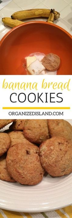 If you love banana bread, you will love these banana bread cookies. Just the right size of tasty goodness!