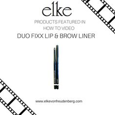 Get one of our best selling, long lasting, Brow Liners that doubles as a Lip Liner! As Seen in Elke's Brow Tutorial. https://www.youtube.com/watch?v=N8Qxt2si-cM&t=1s