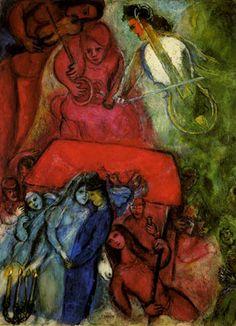 Titolo: Il matrimonio Anno: 1944 Tipologia: olio su tela - 99 x 74  cm. Proprietà: Collezione Ida Chagall