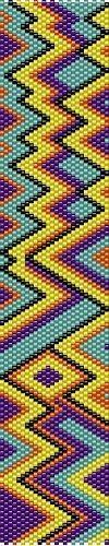 Zigzag Peyote Cuff Bracelet Beading Pattern by Teresa Webster #ArtandOtherThings