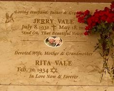 "Grave Marker- Jerry Vale - Singer. A vocalist best known for his ballads, he successfully yielded a number of singles on the music charts. Among them ""Innamorata (Sweetheart)"" (1956), ""You Don't Know Me"" (1956) and ""Have You Looked Into Your Heart"" (1965). He may perhaps be best remembered for the song ""Al Di La"" (1962)."