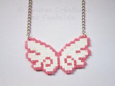 Jewellery Necklace Wings angel kawaii hama door DoucesCreations