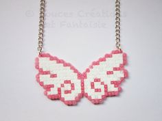 Bijou Collier Ailes d'anges kawaii perle hama par DoucesCreations