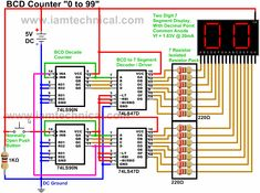 16 Best BCD Decade Digital Counters images | Counter ...  Counter Circuit Diagram on
