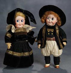 """""""The Voyage Continues"""" - Saturday, January 7, 2017: 73 Pair of All-Original French Bisque Googly Dolls, Models 245, by SFBJ in Brittany Costumes"""