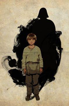 Der kleine Anakin Skywalker steht vor seiner Zukunft: seiner Verwandlung in den dunklen Sith-Lord Darth Vader, der rechten Hand von Imperator Palpatine.