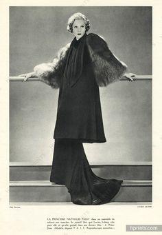 Lucien Lelong 1934 Princesse Nathalie Paley (Mrs Lucien Lelong) Photo Dorvyne