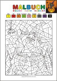 Kostenlose Malvorlage Zum Ausdrucken Kleine Schule Malen Nach Zahlen Kostenlos Kostenlose Ausmalbilder Halloween Ausmalbilder