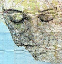 Stra�en und Pl�tze formen ein Gesicht - Ed Fairburn