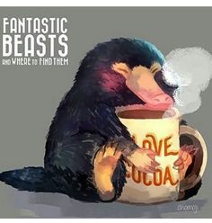 This is a Niffler from Fantastic Beasts and Where to Find Them. Great book (written as a film script) and film! by JK Rowling. Theme Harry Potter, Harry Potter Love, Harry Potter Universal, Harry Potter World, Archie Comics, Hogwarts, Estilo Harry Potter, Albus Dumbledore, Fantastic Beasts And Where