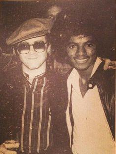 Elton John & Michael Jackson :) - Cuteness in black and white ღ  @carlamartinsmj