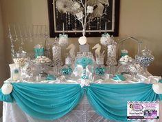 Afbeeldingsresultaat voor tiffany and co inspired candy buffet Blue Candy Buffet, Candy Buffet Tables, Dessert Buffet, Candy Table, Dessert Tables, Tiffany Theme, Tiffany Party, Tiffany Wedding, Tiffany And Co