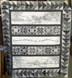 quilt shop calendar | pieced quilt from Crab Apple Hill. She made this Over The River quilt ...