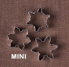 Mini Snowflake Cookie Cutters
