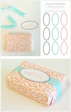 Printable Soap Labels - http://www.creaturecomfortsblog.com/home/2008/4/30/diy-paper-wrapped-soaps.html