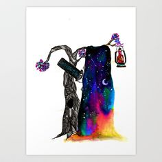 Night of the Magician Art Print by bnwu - $17.00