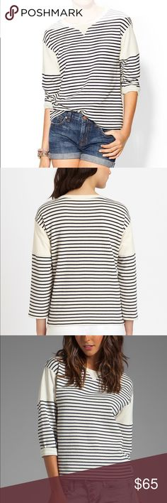 Theory Sotiya Stripe Sweater Worn just once. Condition is like new. Theory Sweaters