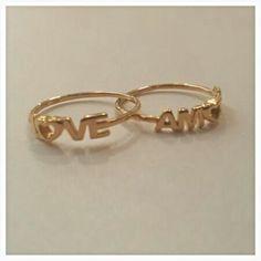 Anelli in Oro Rosa 18kt.   Love e Amore Creati a mano Per ordini 3404053853 WhatsApp oppure... gioielleriagozzoli@gmail.com