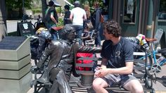 Having a chat with Sir John A. MacDonald.