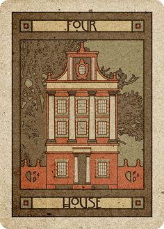4 House - Chelsea-Lenormand Red by Neil Lovell