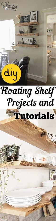 DIY Floating Shelf Projects and Tutorials -